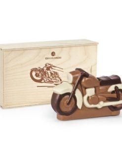 Čokoládová motorka v dárkové dřevěné krabičce