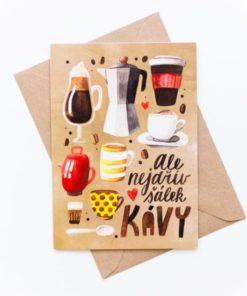 Přáníčko - dárek pro milovníka kávy