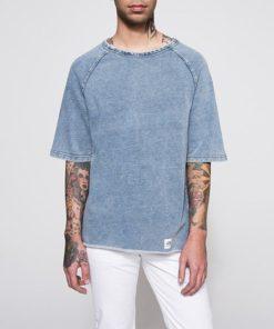 Jeansové tričko s krátkým rukávem - dárek pro kamaráda