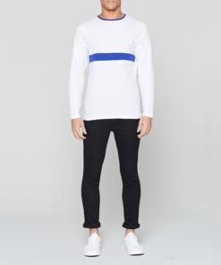 Retro bílé triko s dlouhým rukávem - dárek pro kamaráda