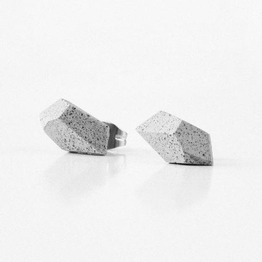 Betonové naušnice - dárek pro partnerku