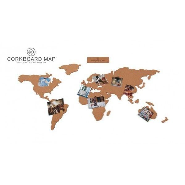 originální Korková mapa světa CORKBOARD MAP