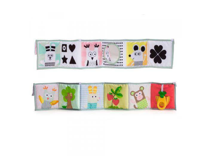Oboustranná textilní knížka - dárek pro děti