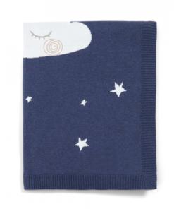 Pletená deka noční obloha modrá Mamas & Papas