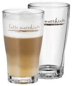 Set sklenic na Latte Macchiato