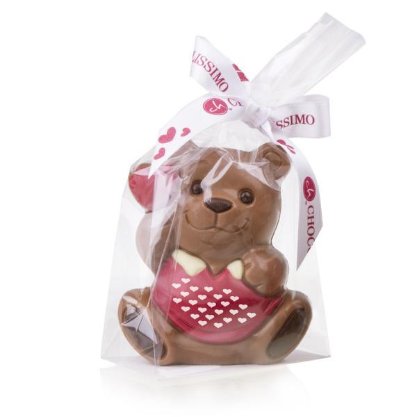 čokoládová figurka na Valentýn
