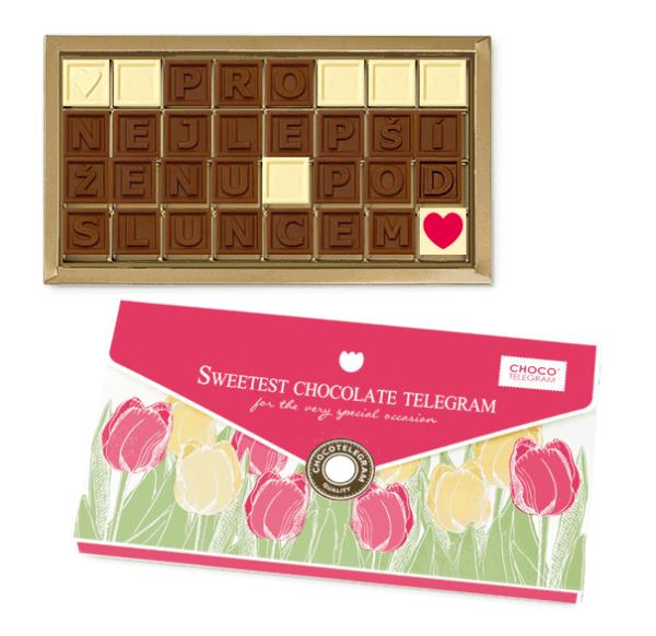 bonboniéra se vzkazem - sladký dárek k Valentýnu