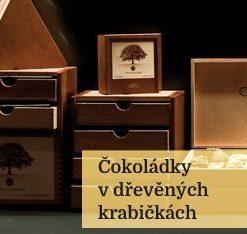 Personalizovaná dřevěná krabička s čokoládkami