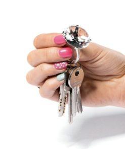 Přívěsek na klíče - diamantový prsten