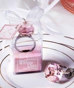 Diamantový přívěšek růžový