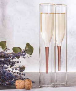 Designové sklenice na šampaňské (2 kusy)