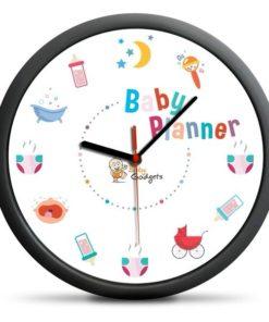 Hodiny Baby Planner - vtipný dárek pro novopečené rodiče