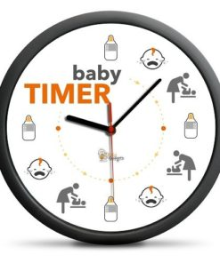 Hodiny Baby Timer vtipný dárek pro novopečené rodiče