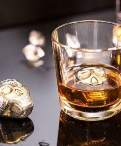 Ledové kovové lebky do nápojů dárek pro kamaráda