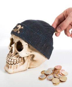 Pokladnička lebka s pirátskou čepicí