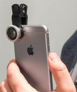 Univerzální objektiv pro mobil 3v1