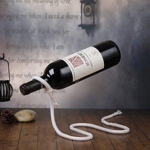 Držák na víno - laso stylová dekorace dárek