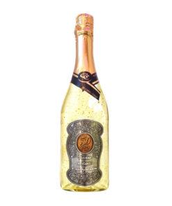 Zlaté šumivé víno 23 karát 0,75 l Narozeniny 50 - kovová etiketa
