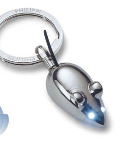 Svítící přívěsek na klíče myška