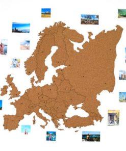 korková mapa evropy - dárek nejen pro studenty a cestovatele