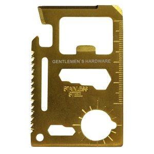 Credit Card Tool Gentleman´s Hardware + MOŽNOST GRAVÍROVÁNÍ
