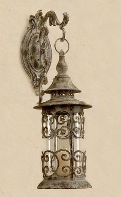 závěsná rustikální lucerna