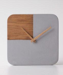 Desifnové betonové hodiny Toggle - Kohoutek Old Wood