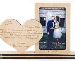Rámeček na foto s vyrytým vzkazem