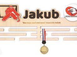 Věšák na medaile s rámečkem pro hokejisty