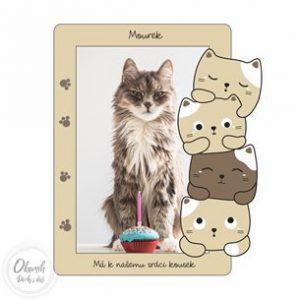 Rámeček s motivem koček