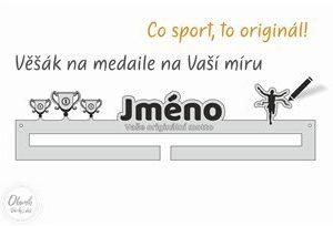 Originální dárek pro sportovce - věšák na medaile