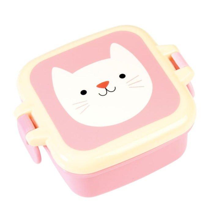 Růžový svačinový box Rex London Cookie the Cat