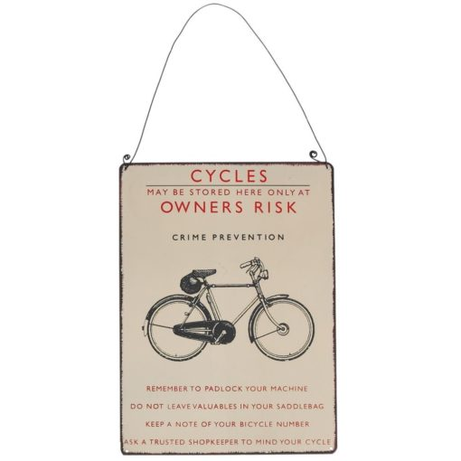 Nástěnná cedule retro jízdní kolo Rex London Bicycle, 17x23cm