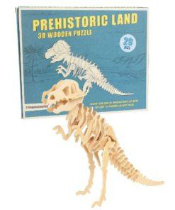 Dřevěné 3D puzzle dinosaurus Rex London Tyrannosaurus