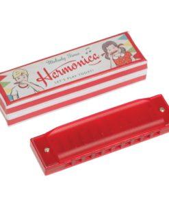 Červená harmonika Rex London Traditional