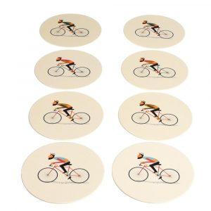 Sada 8 papírových podtácků Rex London Le Bicycle