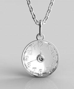 Dárek ke křtinám přívěsek hodiny s datem a jménem