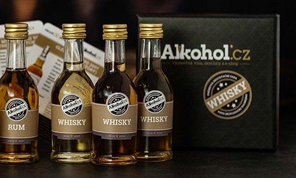 Předplatné rumu a whiskey