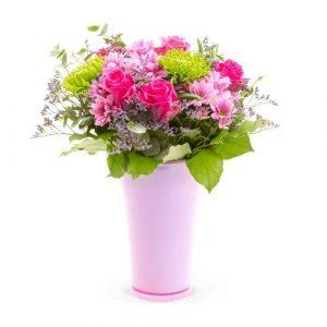 růžové růže jako dárek přítelkyni