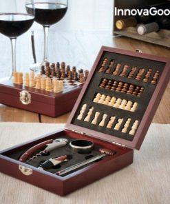 Set na víno v dřevěné krabici