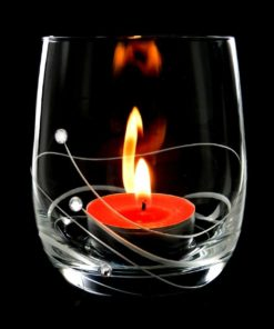 Svícen na čajovou svíčku se Swarovski®