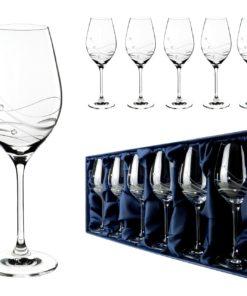 Skleničky na bíle víno se Swarovski® Elements