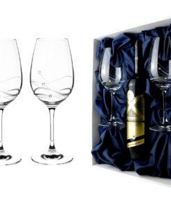 Dárková sada skleniček v boxu na vložení vína