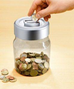 Kasička s počítadlem na euromince