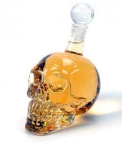 Láhev na alkohol - Lebka 550ml