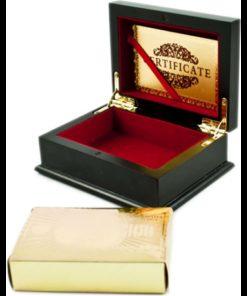 Plastové karty zlaté v ozdobné krabičce