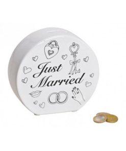 Pokladnička na peníze pro novomanželé Just Married