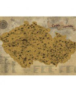 Stírací mapa Česka