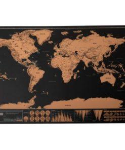 Stírací mapa světa mini DELUXE