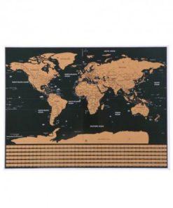 Stírací mapa světa s vlajkami